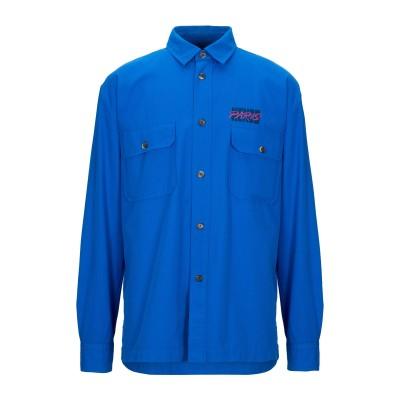 ケンゾー KENZO シャツ アジュールブルー XS コットン 100% シャツ