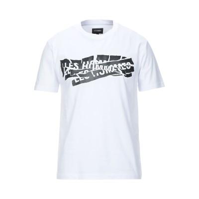 LES HOMMES T シャツ ホワイト S コットン 100% T シャツ