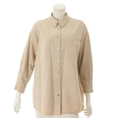 【シャネル】Chanel コットン シャツ ジャケット P12336 ベージュ 36 【中古】【正規品保証】73171