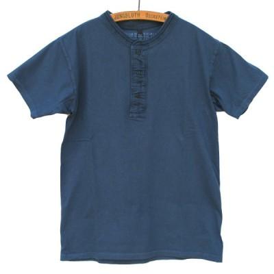 Nigel Cabourn ナイジェルケーボン Vintage Henley Short Sleeve ビンテージヘンリーTシャツ - ネイビー