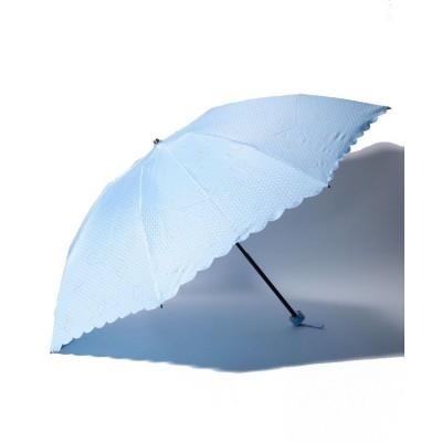 (FURLA/フルラ)FURLA(フルラ)折りたたみ傘 【無地 ハートグリッター】/レディース サックスブルー