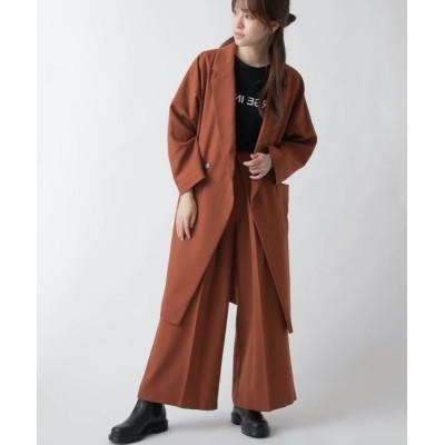 miniyu / La SRIC/抜け衿ロングテーラージャケット【セットアップ可】 WOMEN ジャケット/アウター > テーラードジャケット