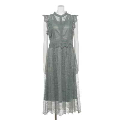 【Rewde】フレンチスリーブレースドレス(9R04-A1879) (ミントグリーン)