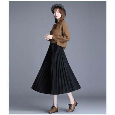 スカート レディース ロング丈 マキシスカート 体型カバー ボリューム オシャレ