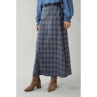 【ローズバッド/ROSEBUD】 チェックロングスカート