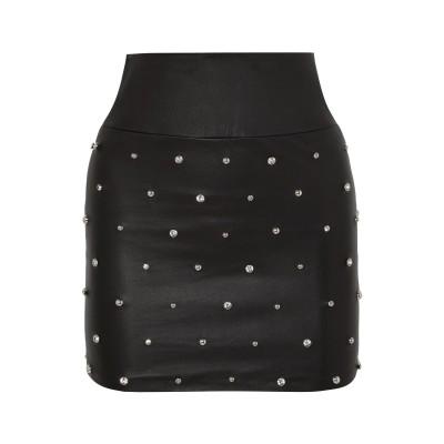 SPRWMN ミニスカート ブラック L 革 ミニスカート