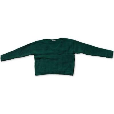 バースリー Bar III レディース ニット・セーター Vネック トップス V-Neck Cuffed-Sleeve Sweater Dark Everglade