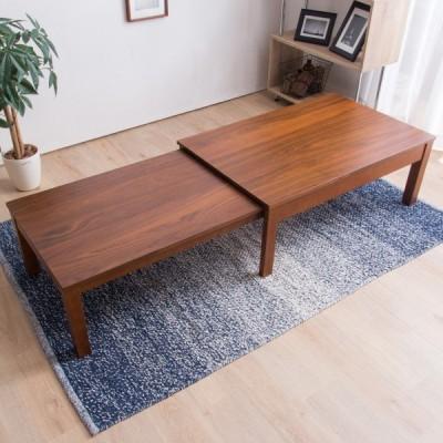 幅が自在に変えられる伸長式テーブル(幅100-180cm WN) ニトリ 『玄関先迄納品』 『1年保証』