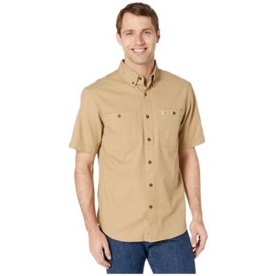 カーハート Carhartt メンズ 半袖シャツ トップス Rugged Flex Rigby Short Sleeve Work Shirt Dark Khaki