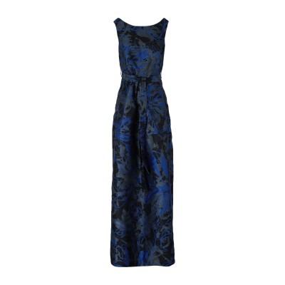LANACAPRINA ロングワンピース&ドレス ダークブルー 42 ポリエステル 100% ロングワンピース&ドレス
