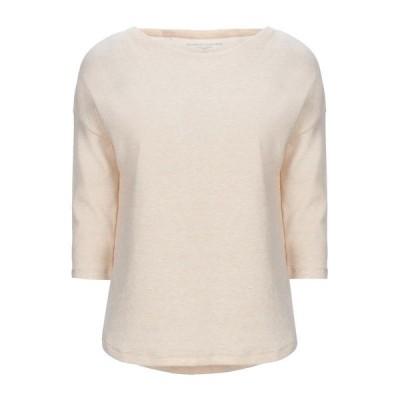 MAJESTIC FILATURES Tシャツ ファッション  レディースファッション  トップス  Tシャツ、カットソー  半袖 ベージュ