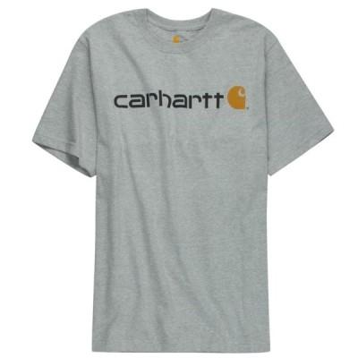 カーハート carhartt LOGO ロゴ Tシャツ HEATHER GREY
