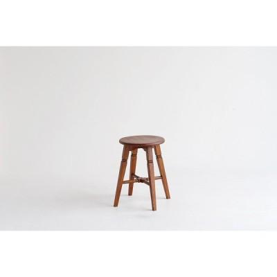 スツール 丸椅子 木製 アンティーク風 レトロ おしゃれ かわいい ロータイプ