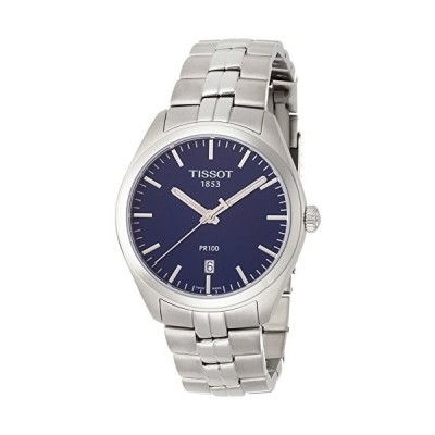 腕時計 ティソ メンズ T1014101104100 Tissot PR 100 Blue Dial Stainless Steel Quartz Men's Watch T10141