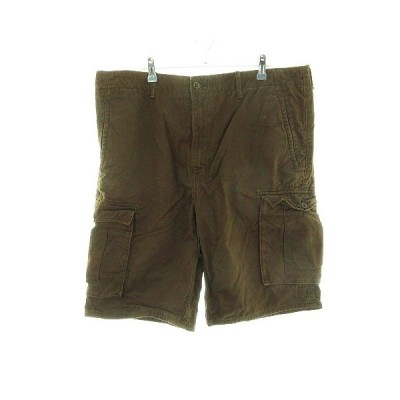 【中古】リーバイス Levi's パンツ ハーフ ショート 無地 38 茶 ブラウン /CK メンズ 【ベクトル 古着】