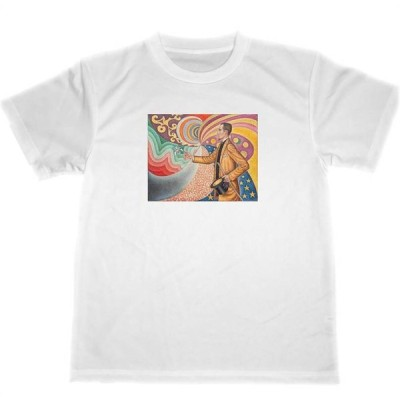 フェリックス・フェネオンの肖像  ポール シニャック ドライ Tシャツ 名画 絵画 グッズ サイケデリック 魔術師