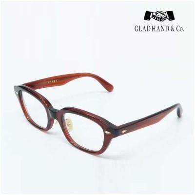 GLAD HAND 丹羽雅彦 サングラス ブラウンフレーム×クリアーレンズ セルロイド 眼鏡 J-IMMY GLASSES ORNAMENT にわまさひこ 鯖江 ジミー オーナメント