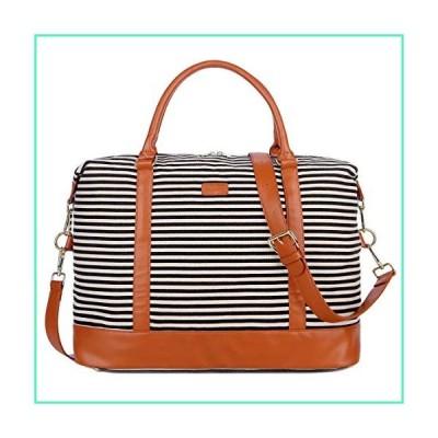 BAOSHA HB-28 Ladies Women Canvas Travel Weekender Bag Overnight Carry-on Duffel Tote Bag (Black)並行輸入品