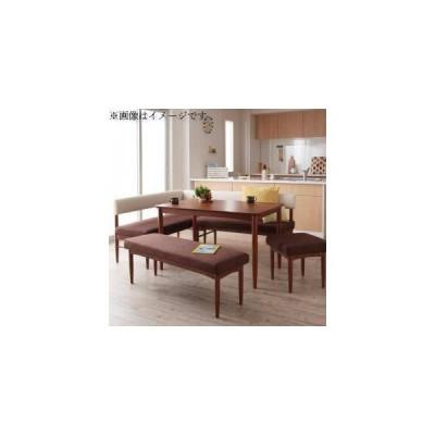 ダイニングテーブルセット 7人用 コーナーソファー L字 l型 ベンチ 椅子 5点 (机+ソファx1+肘付x1+長椅子1+スツール1) 幅150 デザイナーズ カバー 低め 大きい