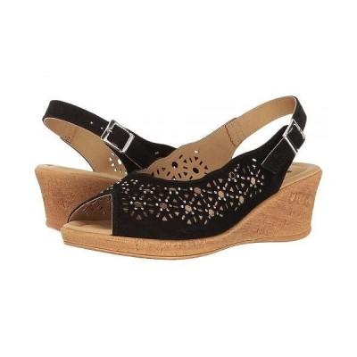 Spring Step スプリングステップ レディース 女性用 シューズ 靴 ヒール Saibara - Black