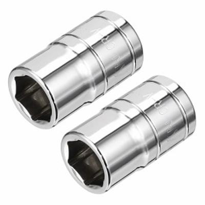 uxcell 海外出荷 6ポイント浅いソケット インパクトソケット Cr-Vソケット 11mmソケット9.5mmドライブ 2個入り