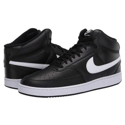 ナイキ Court Vision Mid メンズ スニーカー 靴 シューズ Black/White