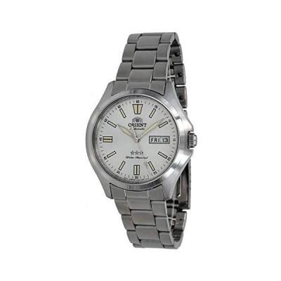 Orient RA-AB0F12S メンズ ステンレススチール 3スター ホワイトダイヤル 夜光インデックス 曜日日付 自動腕時計並行輸入