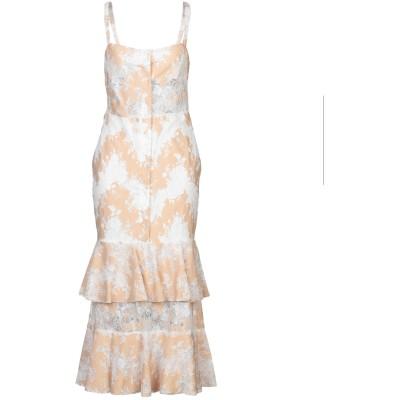 WEILI ZHENG ロングワンピース&ドレス サンド XS ポリエステル 100% ロングワンピース&ドレス