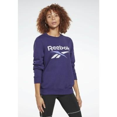 リーボック レディース パーカー・スウェットシャツ アウター FRENCH TERRY BIG LOGO SWEATSHIRT - Sweatshirt - purple purple