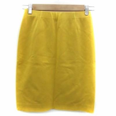 【中古】ロペ ROPE スカート タイト ミニ丈 36 イエロー 黄色 /YM9 レディース