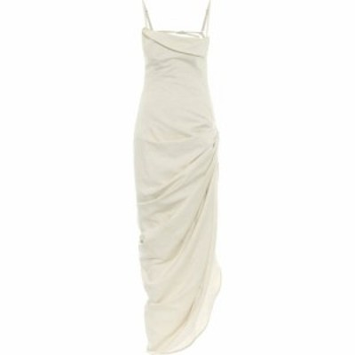 ジャックムス Jacquemus レディース ワンピース ワンピース・ドレス La Robe Saudade Cotton And Linen Dress Natural