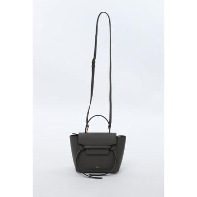 セリーヌ トートバッグ ショルダーバッグ ベルトバッグ 鞄 NANO GRAINED 10DC 189003ZVA グレー 2020年秋冬新作 CELINE