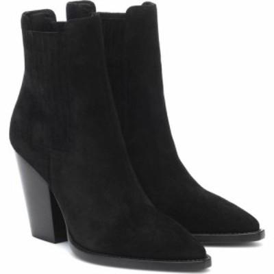イヴ サンローラン Saint Laurent レディース ブーツ ショートブーツ シューズ・靴 Theo 95 Suede Ankle Boots Nero