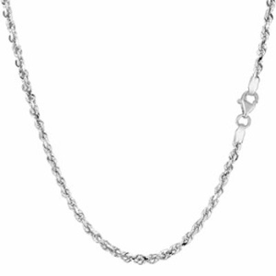14k SOLID Yellow or White Gold 2.25mm Shiny Diamond-Cut Royal Solid Rope Chain Necklace for Pendants and Charms with Lobster-Cla