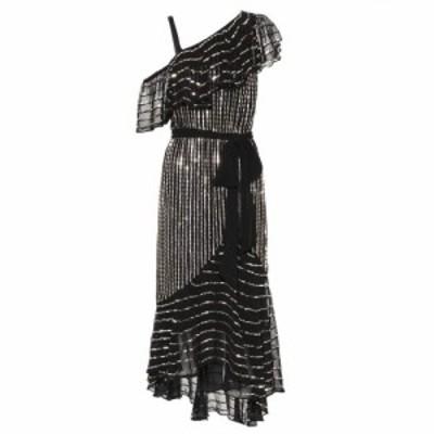 テンパリー ロンドン Temperley London レディース ワンピース ワンピース・ドレス Beaded off-the-shoulder dress Black