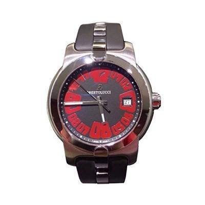 Bertolucciブラックダイヤル赤数字ブラックバンドメンズ腕時計88391d4114dr並行輸入品