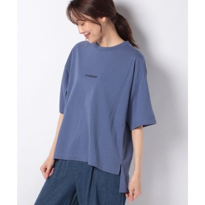 JEANS MATE 【ZEROSTAIN】スモールロゴTシャツ(ブルー)【返品不可商品】