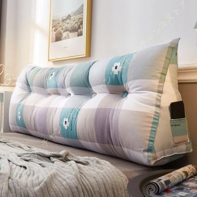 三角クッション ピロー大きな背もたれベッドネックプロテクション ソフト ベッド背もたれクッション