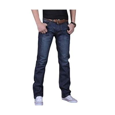 (ショッフェ)メンズ パンツ デニム ジーンズ 無地 長ズボン ポケット付き カジュアル 春夏秋 大きいサイズ ?