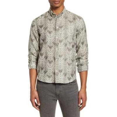 ビリーレイド メンズ シャツ トップス Kirby Leaf Print Slim Fit Shirt OLIVE