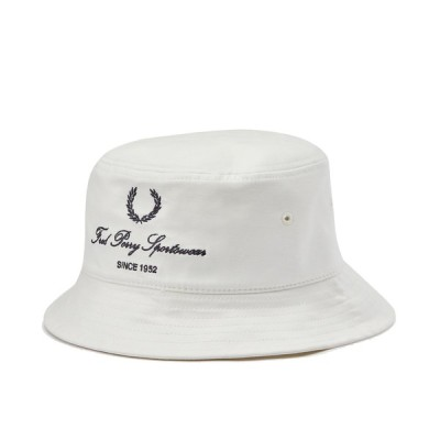 フレッドペリー FREDPERRY SCRIPT BRANDED BUCKET HAT カジュアル 帽子 ハット