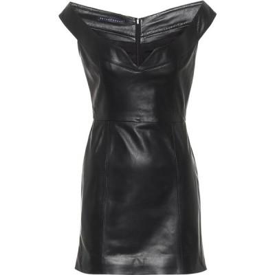 ゼイネプアルケイ Zeynep Arcay レディース ワンピース ワンピース・ドレス Leather Minidress Black