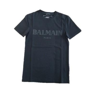 大特価 セール SALE バルマン 12681 BALMAIN PARIS メンズ レディース ブランド ロゴ 黒 Tシャツ