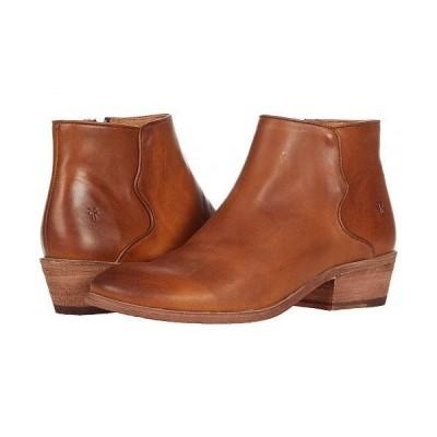 Frye フライ レディース 女性用 シューズ 靴 ブーツ アンクル ショートブーツ Carson Piping Bootie - Caramel Antique Pull Up