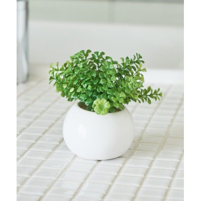 〈ミニ観葉植物・フェイクグリーン〉ラウンドポット
