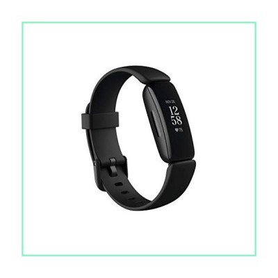 Fitbit Inspire 2 Health & Fitness Tracker with a Free 1-Year Fitbit Premium Trial, 24/7 Heart Rate, Black/Black, One Size (S & L Bands Inclu