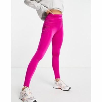 フラウンスロンドン Flounce London レディース ジョガーパンツ gym running legging with drawstring waist and bum sculpt in fuchsia