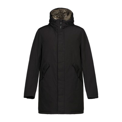 アレッサンドロデラクア ALESSANDRO DELL'ACQUA コート ブラック 46 ポリエステル 70% / コットン 30% コート