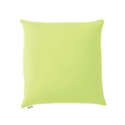 MOGU(モグ) ビーズクッションカバー 黄緑 スクエア クッション 45S カバー ライトグリーン (全長約45cm) 専用カバー