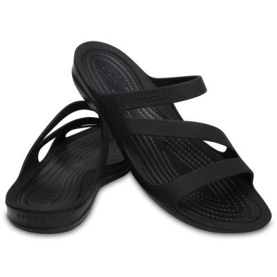 [クロックス公式] サンダル スウィフトウォーター サンダル ウィメン レディース、ウィメンズ、女性用 ブラック/黒 22cm,23cm,24cm,25cm Women's Swiftwater Sandal 30%OFF セール アウトレット